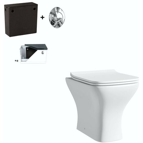Orchard Derwent square compact back to wall toilet with soft close seat and concealed cistern