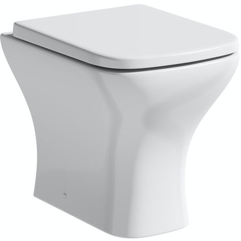 Orchard Derwent square compact back to wall toilet with soft close thick toilet seat