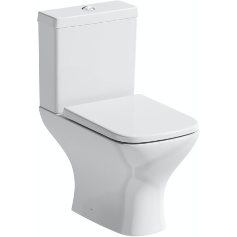 Orchard Derwent square compact close coupled toilet with thick soft close toilet seat