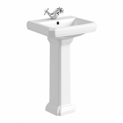 Orchard Dulwich 1 tap hole full pedestal basin 500mm