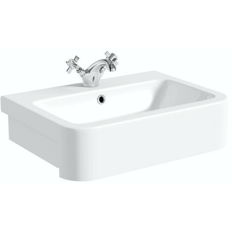 """main image of """"Orchard Dulwich 1 tap hole semi recessed countertop basin 565mm with tap"""""""