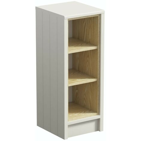 Orchard Dulwich ivory open storage unit 800 x 300mm