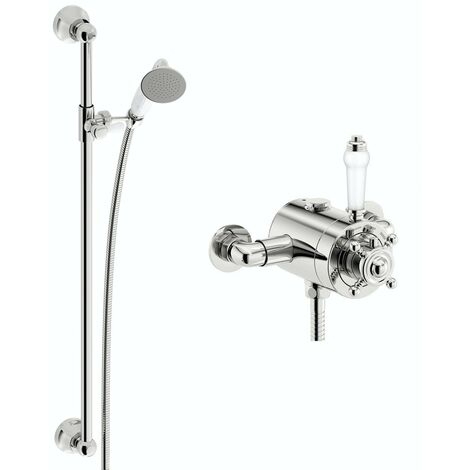 Orchard Dulwich thermostatic shower valve with slider rail kit