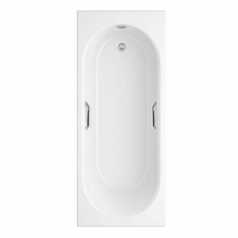 Orchard Ealing single ended bath 1700 x 700 with hand grips and front panel