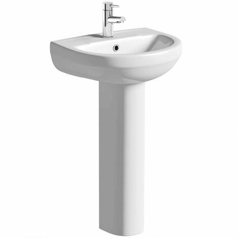 Orchard Eden 1 tap hole full pedestal basin 500mm