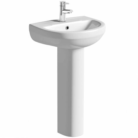 Orchard Eden 1 tap hole full pedestal basin 500mm with tap
