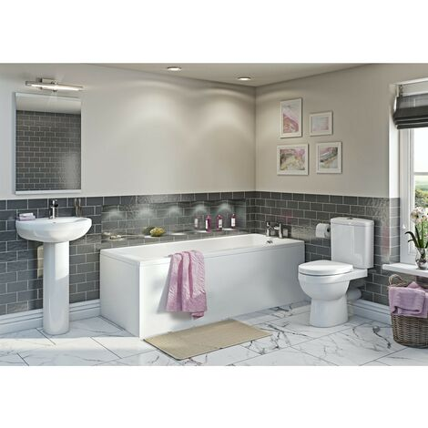 Orchard Eden complete bathroom suite with straight bath 1700 x 700