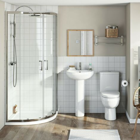 Orchard Eden complete ensuite with quadrant enclosure and tray 800 x 800