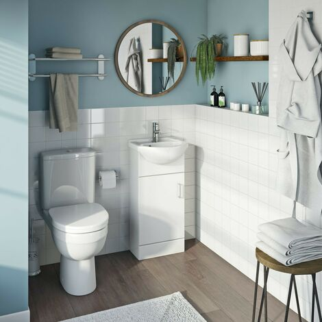 Orchard Eden white cloakroom suite with close coupled toilet