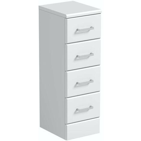 Orchard Eden white slimline multi-drawer storage unit 766 x 250mm