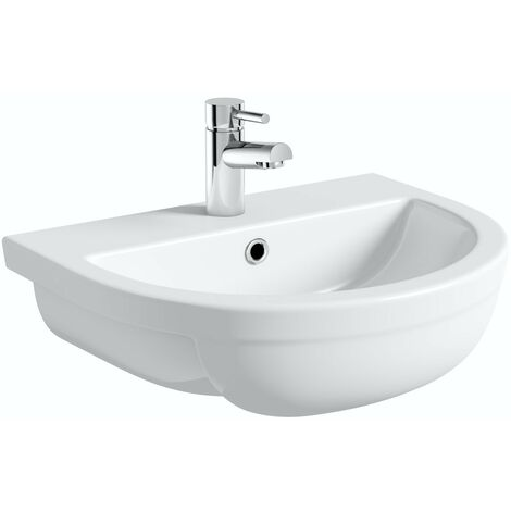 Orchard Elena 1 tap hole semi recessed countertop basin 500mm
