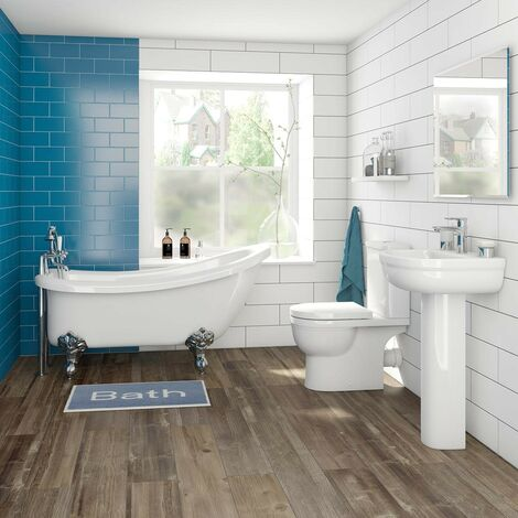 Orchard Elsdon bathroom suite with traditional slipper bath 1510 x 720