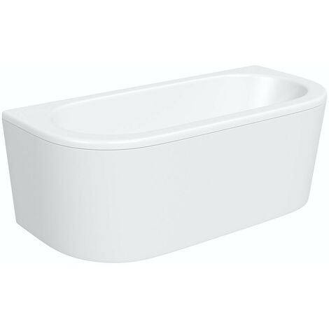 Orchard Elsdon D shaped double ended bath with panel 1700 x 800