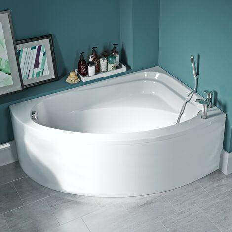 Orchard Elsdon right handed offset corner bath 1500mm