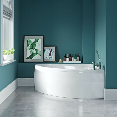 """main image of """"Orchard Elsdon right handed offset corner bath with panel 1500mm"""""""