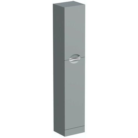 Orchard Elsdon stone grey slimline tall storage unit 1900 x 350mm