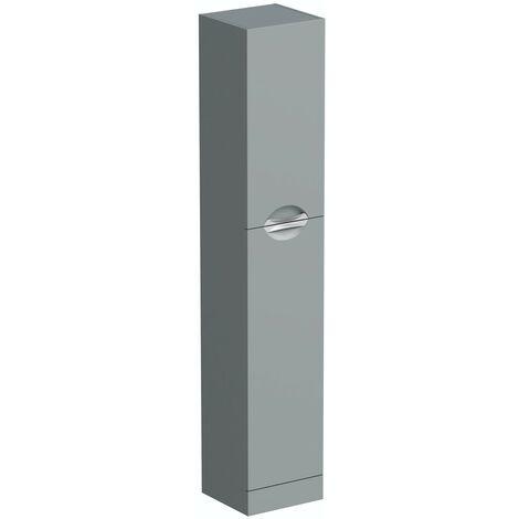 Orchard Elsdon stone grey tall storage unit 1900 x 350mm