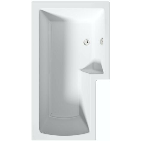 Orchard L shaped right handed shower bath 1500 x 850