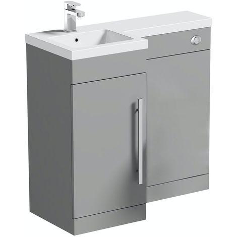 Orchard MySpace slate matt grey left handed combination unit including concealed cistern