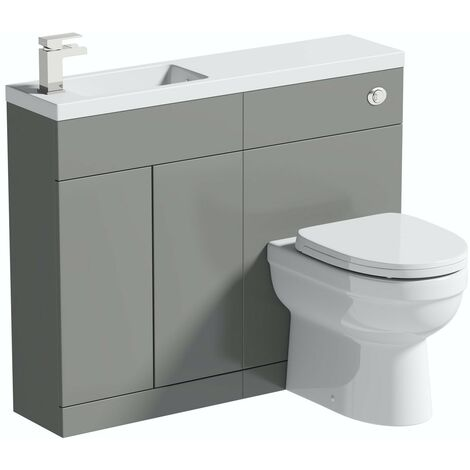 Orchard MySpace Slim stone grey combination with Eden toilet and soft close seat