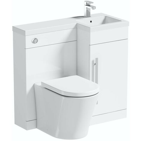 Orchard MySpace white right handed combination with contemporary back to wall toilet
