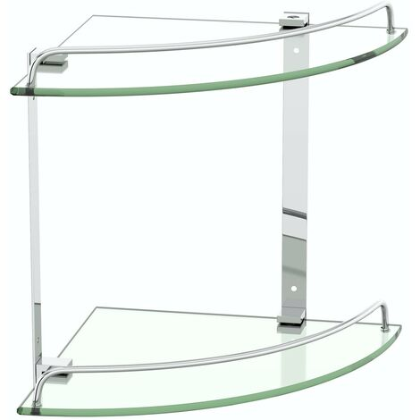 Orchard Options double round corner glass shelf