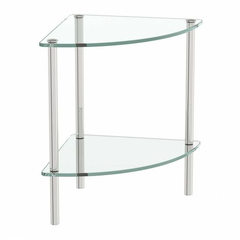 Orchard Options freestanding quadrant 2 glass shelf unit
