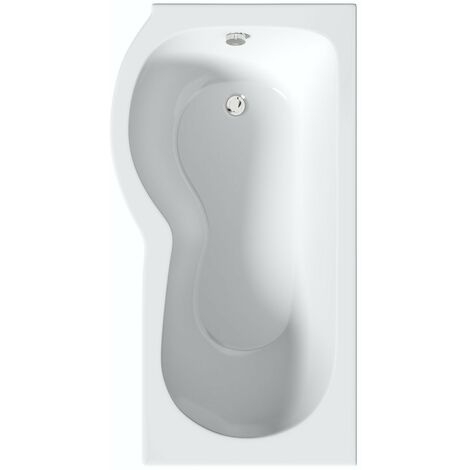 Orchard P shaped left handed shower bath 1700 x 850