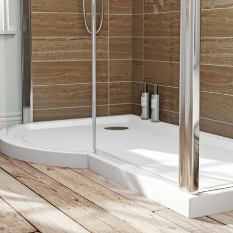 Orchard P shaped left handed shower tray 1500 x 900