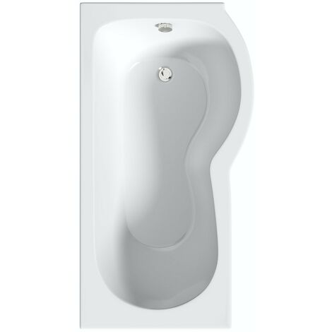 Orchard P shaped right handed shower bath 1700 x 850
