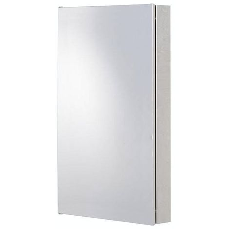 Orchard Radial stainless steel corner mirror cabinet 500 x 300mm