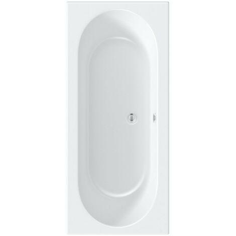 Orchard round edge double ended bath with acrylic front panel 1700 x 700