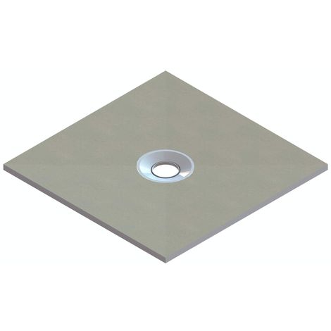 Orchard wet room tray former with centre waste position 900 x 900