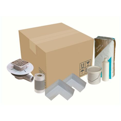 Orchard wet room tray waste and installation kit