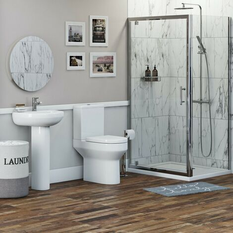 Orchard Wharfe bathroom suite with square enclosure and tray 700 x 800