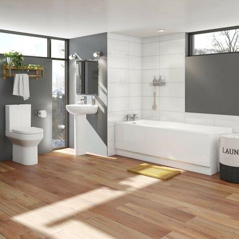 Orchard Wharfe bathroom suite with straight bath 1700 x 700