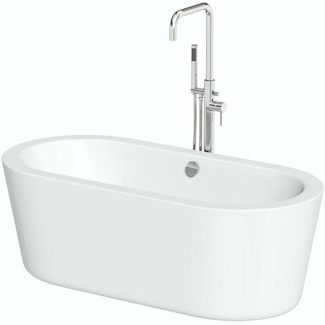 Orchard Wharfe freestanding bath 1565 x 740 and Anderson freestanding bath tap pack
