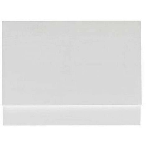 Orchard White wooden straight bath end panel 750mm