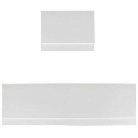 Orchard White wooden straight bath panel pack 1700 x 750