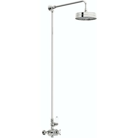 Orchard Winchester rain can exposed riser rail shower system