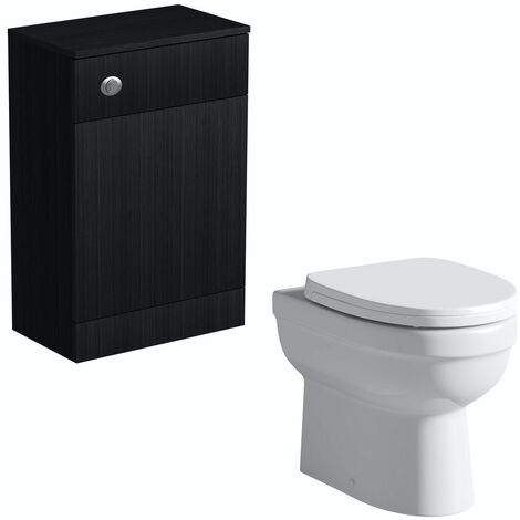 Orchard Wye essen black back to wall unit and Eden toilet with soft close seat