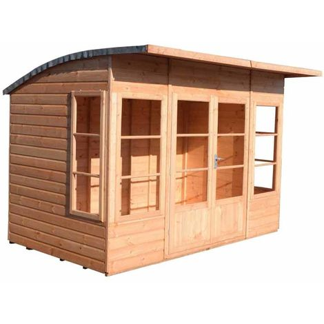 Orchid 10' x 6' Double Door with Two Fixed and Two Opening Windows Dip Treated Summerhouse