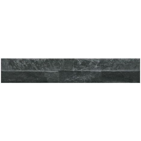 Ordino Black 8cm x 44.25cm Porcelain Wall Tile
