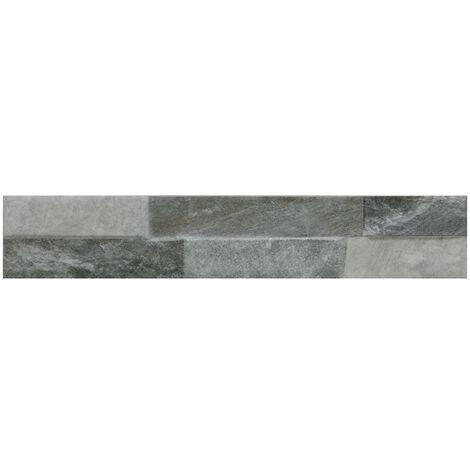 Ordino Grey 8cm x 44.25cm Porcelain Wall Tile