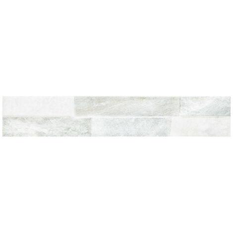 Ordino White 8cm x 44.25cm Porcelain Wall Tile