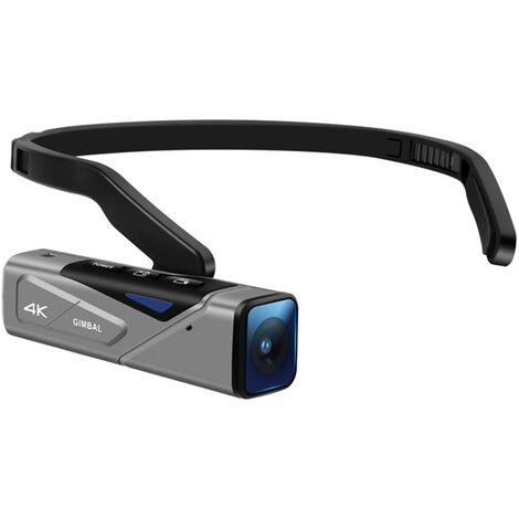 ORDRO EP7 Camera de prise de vue video 4K de premiere vue montee sur la tete Autofocus 4K / 60FPS GIMBALL a deux axes Version standard avec telecommande gris