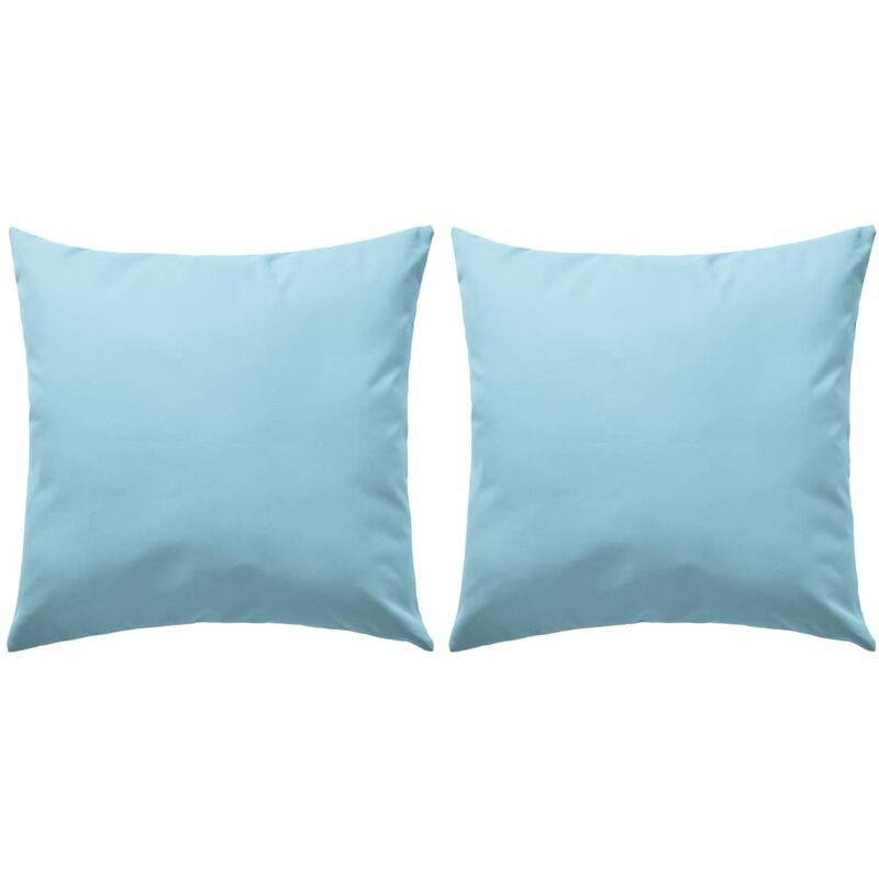 Oreiller d'extérieur 2 pcs 45 x 45 cm Bleu clair