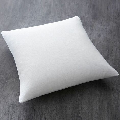 """main image of """"Oreiller moelleux 100% polyester - 60 x 60 cm - 60 x 60 - Blanc"""""""