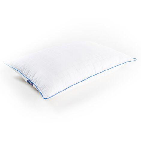 """main image of """"Oreiller Moelleux en Fibre 45x65cm - Confort Souple - Anti Acariens - Enveloppe 100% Coton - Qualité Hôtellerie - Marque Française - BDREAMS - Blanc"""""""