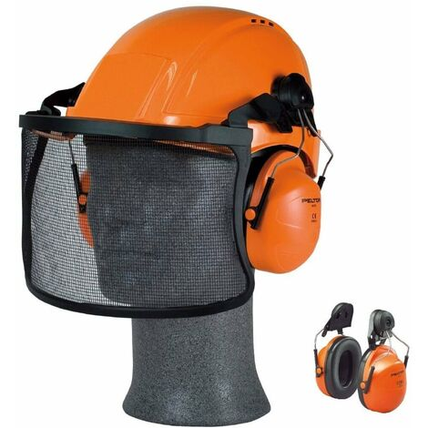 Orejera naranja para casco con anclaje P3E H31P3E 300 H31 (20 pares)
